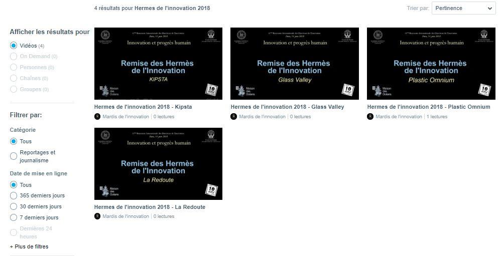 Retrouvez les vidéos de la remise des Prix Hermès de la Rencontre Nationale 2018 sur notre chaîne VIMEO
